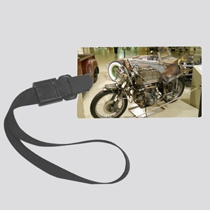 Rat-Rod Motorcycle Large Luggage Tag