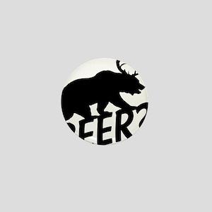 The Bear Deer Beer Mini Button