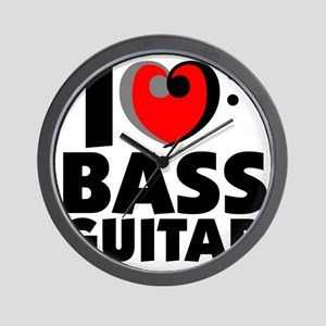 I Love Bass Guitar Wall Clock