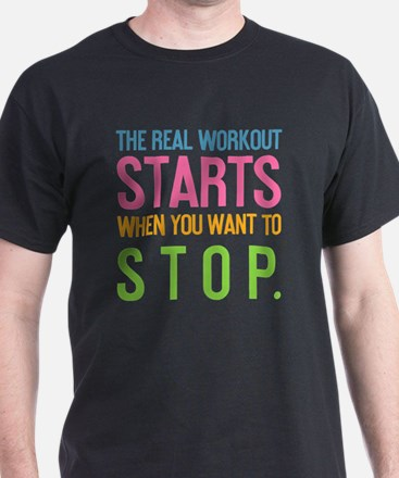 ipad The real workout starts when you T-Shirt