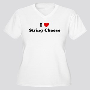 I love String Cheese Women's Plus Size V-Neck T-Sh