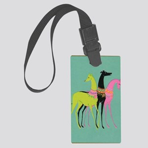 Art Deco Ornate Greyhounds Large Luggage Tag