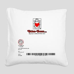116A-MERMAID-DANCE5-5x7-BACK Square Canvas Pillow