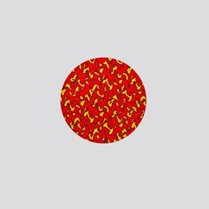 Red Wild Party Personified Designer Mini Button