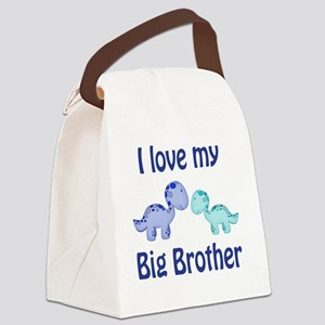 I love my big brother Dinosaur Canvas Lunch Bag