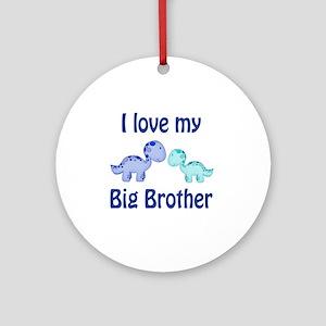 I love my big brother Dinosaur Round Ornament