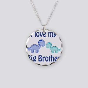 I love my big brother Dinosa Necklace Circle Charm