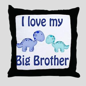 I love my big brother Dinosaur Throw Pillow
