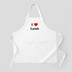 I love Lamb BBQ Apron