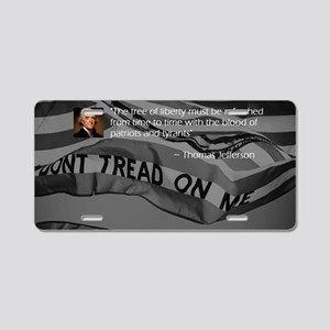 The Tree of Liberty Aluminum License Plate