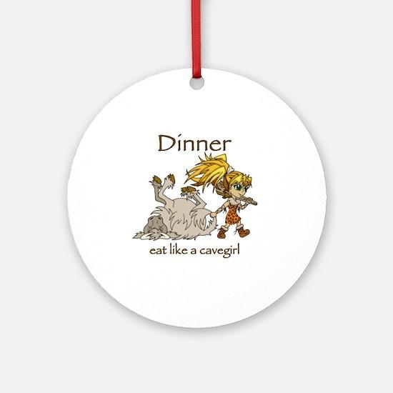 Cavegirl Round Ornament