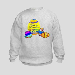 Cairn Terrier Easter Kids Sweatshirt