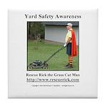 Yard Safety Awareness Tile Coaster