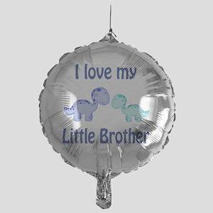 I love my Little Brother Dinosaur Mylar Balloon