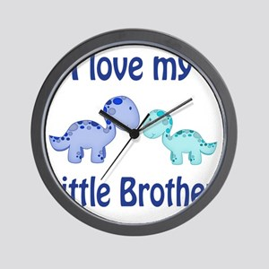 I love my Little Brother Dinosaur Wall Clock