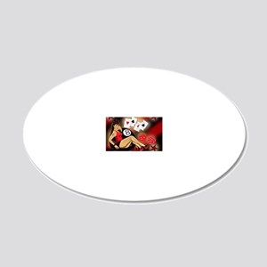 Rockabilly Eightball Pin-up 20x12 Oval Wall Decal