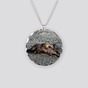 River Otters Necklace Circle Charm