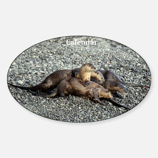 River Otters Sticker (Oval)