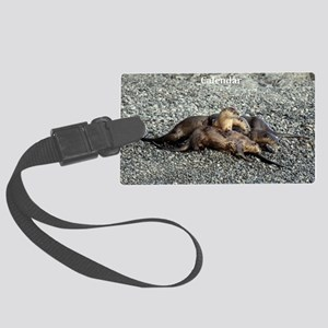 River Otters Large Luggage Tag