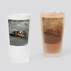 River Otters Drinking Glass
