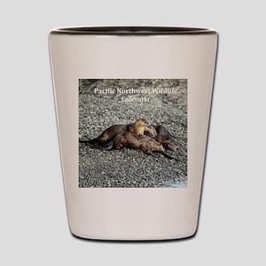 River Otters Shot Glass