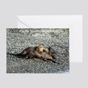 River Otters Greeting Card