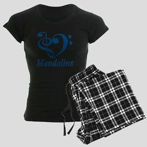 TILE_TRANS_I_Love_Mandolins Women's Dark Pajamas
