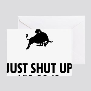 Bull-Riding-AAU1 Greeting Card