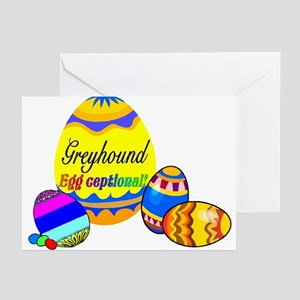 Greyhound Easter Greeting Cards (Pk of 10)