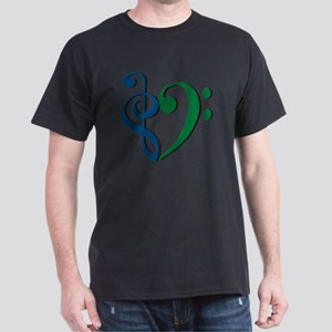 Trans_Heart_BlueGreen Dark T-Shirt