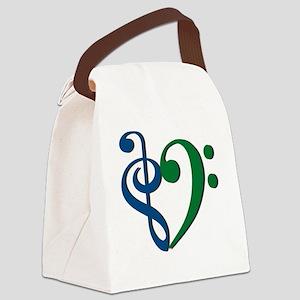 Trans_Heart_BlueGreen Canvas Lunch Bag