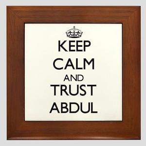 Keep Calm and TRUST Abdul Framed Tile