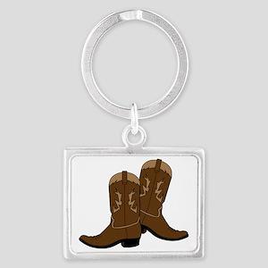 Cowboy Boots Landscape Keychain