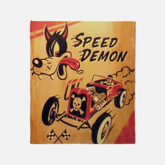 Speed Demon Throw Blanket