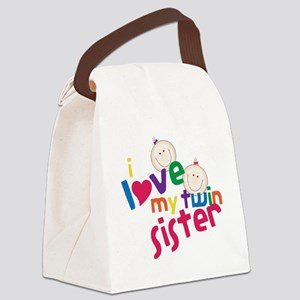Twin Sister Canvas Lunch Bag
