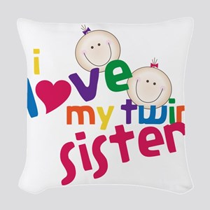 Twin Sister Woven Throw Pillow