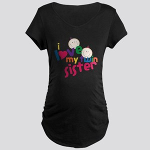 Twin Sister Maternity Dark T-Shirt