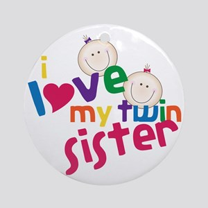 Twin Sister Round Ornament