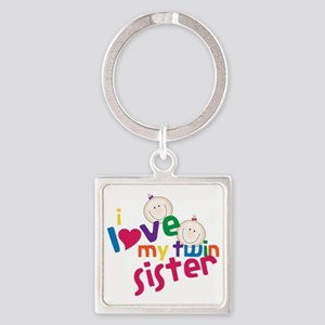 Twin Sister Square Keychain