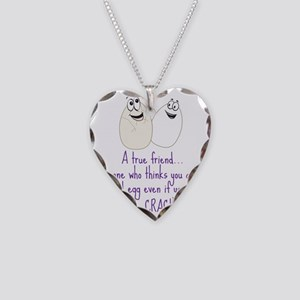 A True Friend Necklace Heart Charm