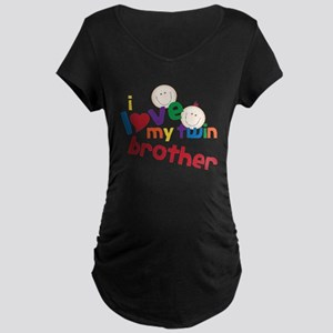 Love My Twin Maternity Dark T-Shirt