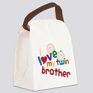 Love My Twin Canvas Lunch Bag