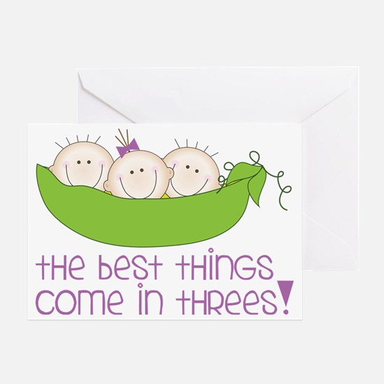 Come In Threes Greeting Card