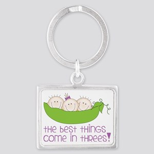 Come In Threes Landscape Keychain