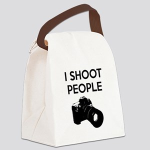 I shoot people - photography Canvas Lunch Bag