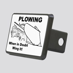 Snow Plowing Wing It Rectangular Hitch Cover