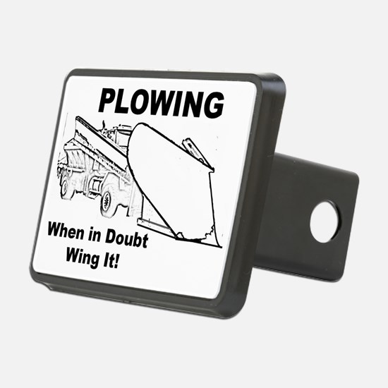 Snow Plowing Wing It Hitch Cover