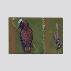Snow Capped Hummingbird Mouse Pad Rectangle Magnet