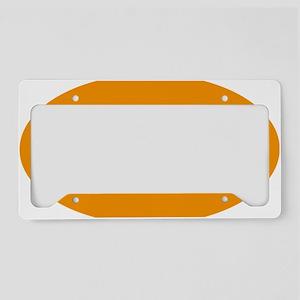 Oval License Plate Holder