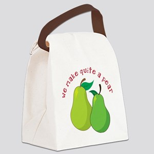 Quite A Pear Canvas Lunch Bag